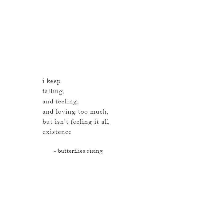 isn't feeling it all existence