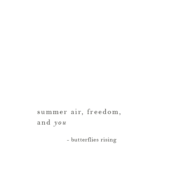 summer air, freedom, and you - butterflies rising