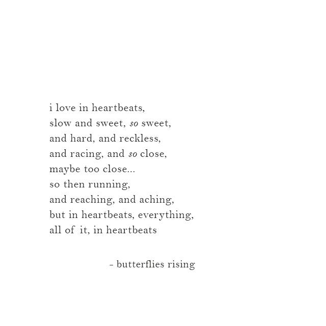 i love in heartbeats