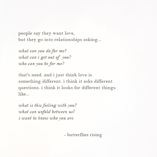 i think love is something different