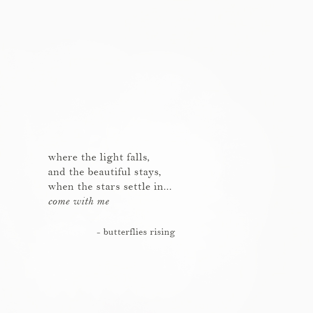 i where the light falls, and the beautiful stays