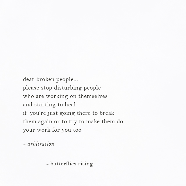dear broken people