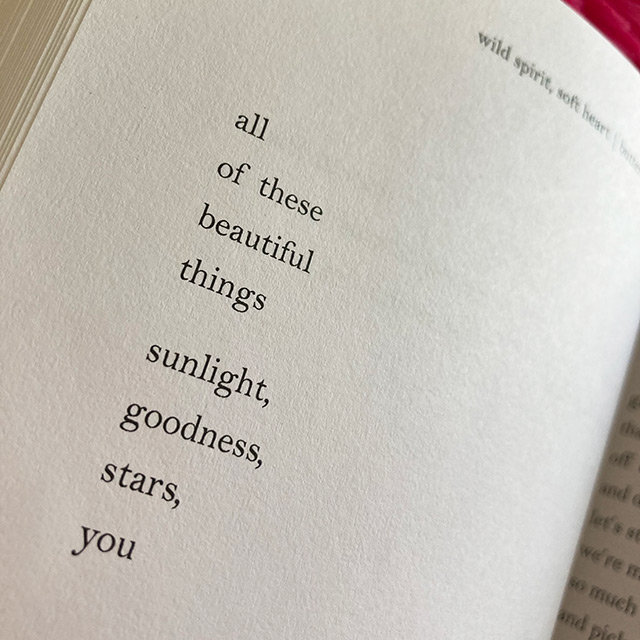 all of these beautiful things sunlight, goodness, stars, you - butterflies rising