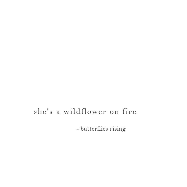 she's a wildflower on fire - butterflies rising