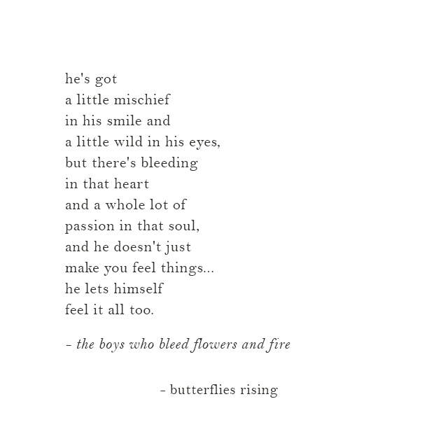 the boys who bleed flowers and fire