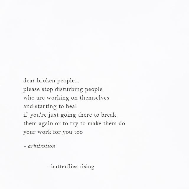 dear broken people